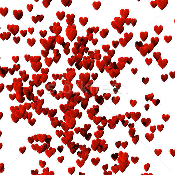 Hundreds of hearts, isolated over white with clipping path Stock photo © bestmoose