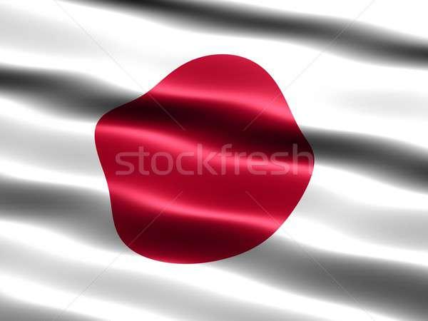 Bayrak Japonya bilgisayar oluşturulan örnek ipeksi Stok fotoğraf © bestmoose