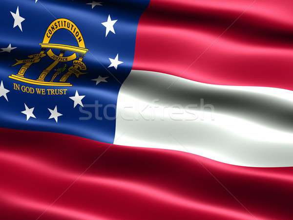 Flag of the state of Georgia Stock photo © bestmoose