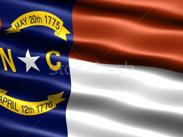 Bandiera Carolina del Nord computer generato illustrazione setosa Foto d'archivio © bestmoose