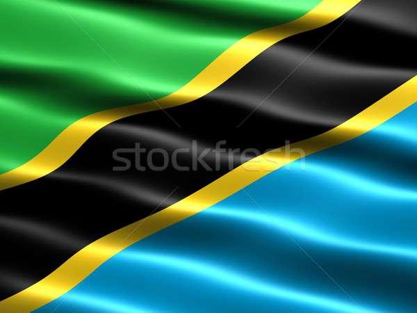 Flag of Tanzania Stock photo © bestmoose