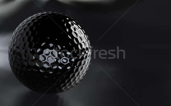 Czarny piłeczki do golfa alfa kanał ciemne Zdjęcia stock © bestmoose