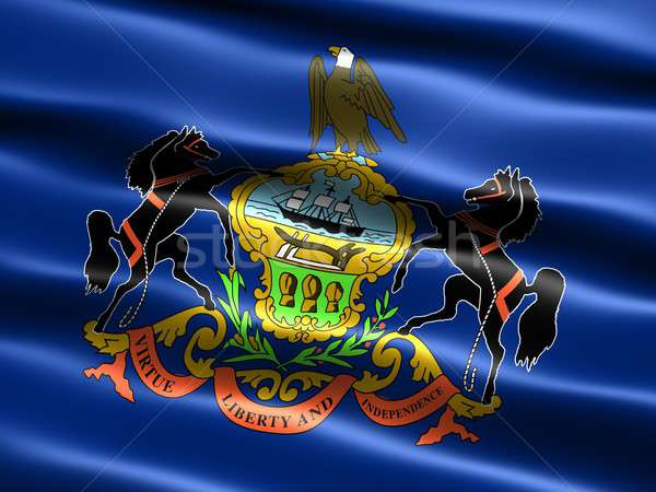 Flag of the state of Pennsylvania Stock photo © bestmoose