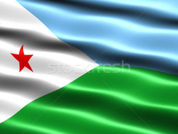 Flag of Djibouti Stock photo © bestmoose