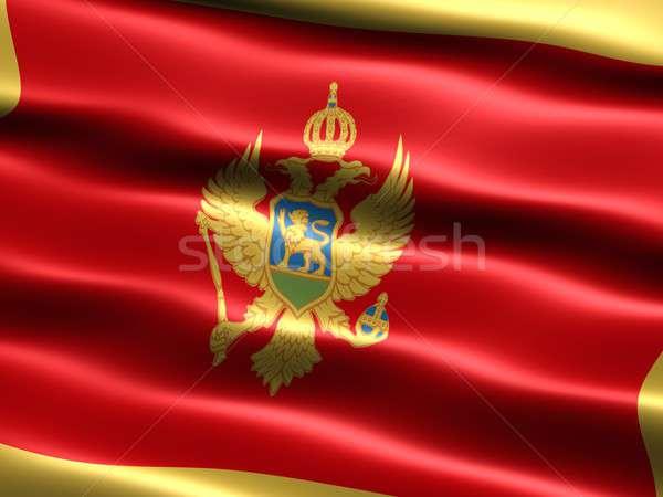 Bandeira Montenegro computador gerado ilustração sedoso Foto stock © bestmoose