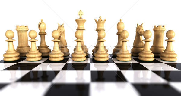 White chess game pieces  Stock photo © bestmoose