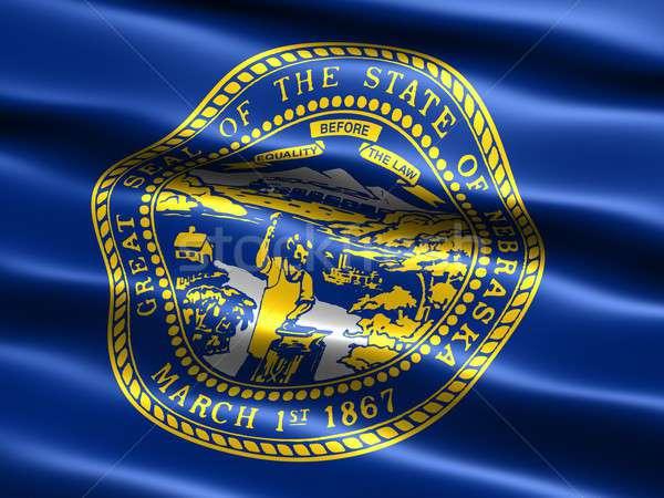 Banderą Nebraska komputera wygenerowany ilustracja jedwabisty Zdjęcia stock © bestmoose