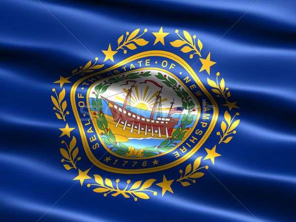 Banderą New Hampshire komputera wygenerowany ilustracja jedwabisty Zdjęcia stock © bestmoose
