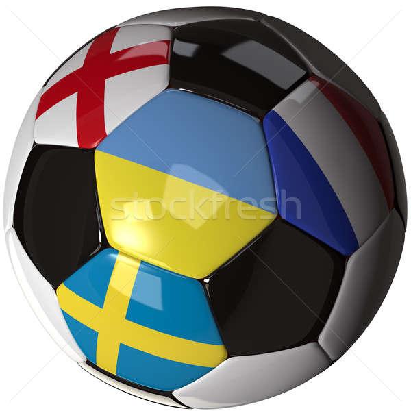 Isolé ballon drapeaux groupe 2012 élevé Photo stock © bestmoose