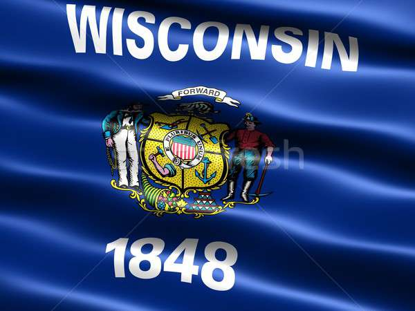 Flag of the state of Wisconsin Stock photo © bestmoose