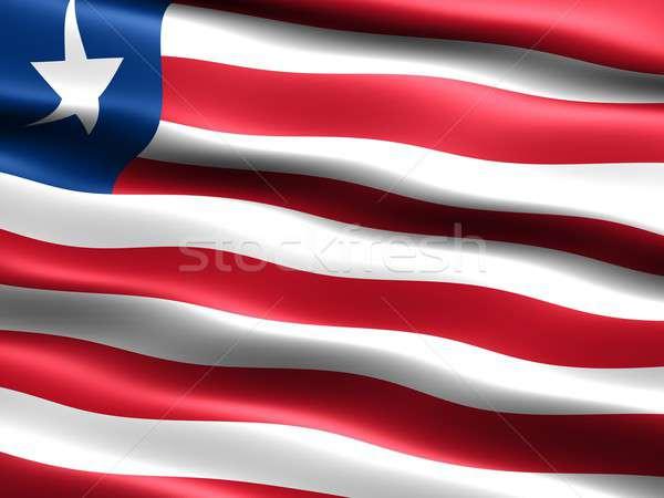 флаг Либерия компьютер генерируется иллюстрация шелковистый Сток-фото © bestmoose