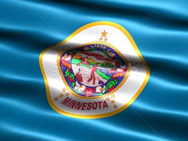 Bandeira Minnesota computador gerado ilustração sedoso Foto stock © bestmoose