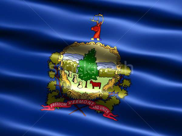 Flag of the state of Vermont Stock photo © bestmoose