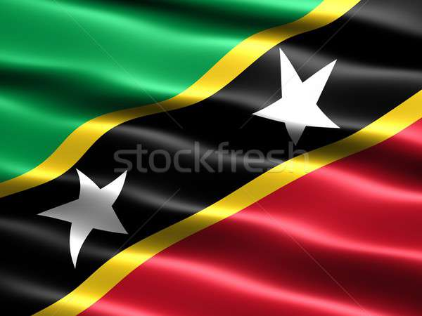 Flag of Saint Kitts and Nevis Stock photo © bestmoose