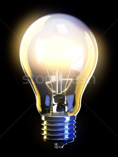 Glowing light bulb Stock photo © bestmoose