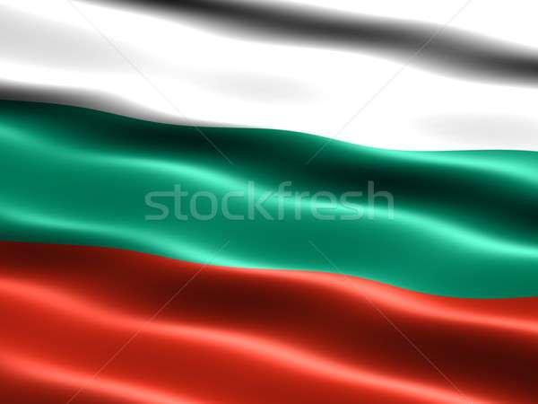 Zászló Bulgária számítógép generált illusztráció selymes Stock fotó © bestmoose