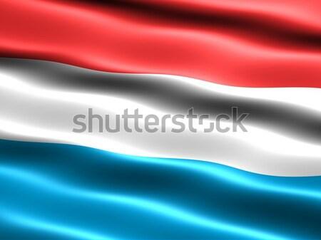 Vlag Luxemburg computer gegenereerde illustratie zijdeachtig Stockfoto © bestmoose