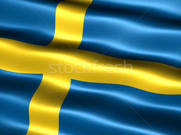 Flag of Sweden Stock photo © bestmoose