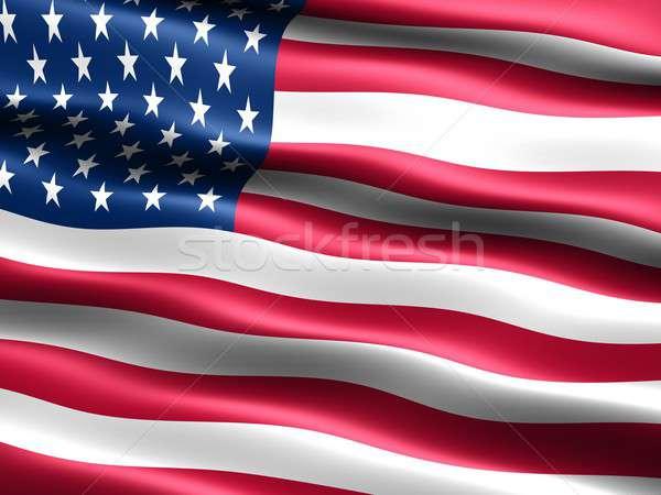флаг США компьютер генерируется иллюстрация шелковистый Сток-фото © bestmoose