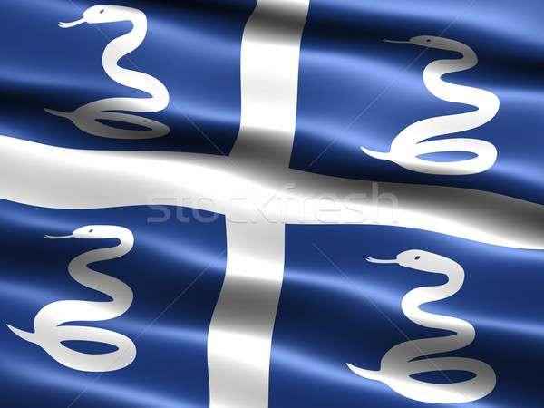 Zászló számítógép generált illusztráció selymes megjelenés Stock fotó © bestmoose