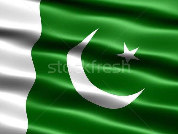 Vlag Pakistan computer gegenereerde illustratie zijdeachtig Stockfoto © bestmoose
