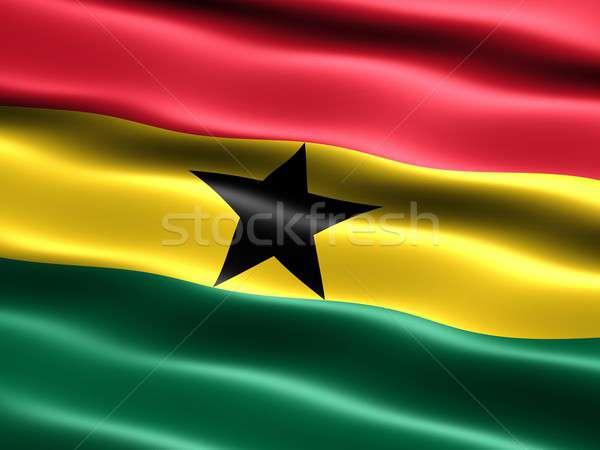 Bandeira Gana computador gerado ilustração sedoso Foto stock © bestmoose