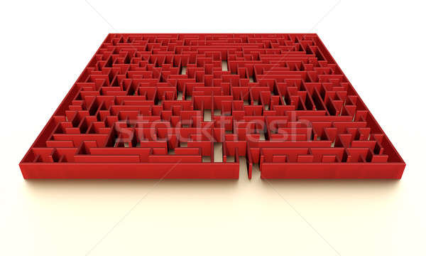 Red maze with subtle illumination Stock photo © bestmoose