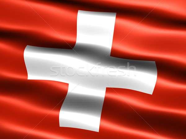 Flag of Switzerland Stock photo © bestmoose