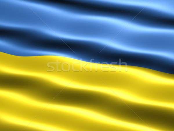 Flag of Ukraine Stock photo © bestmoose