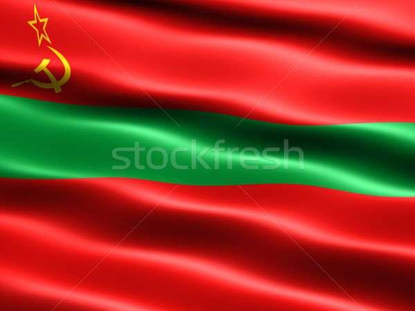 Banderą komputera wygenerowany ilustracja jedwabisty wygląd Zdjęcia stock © bestmoose
