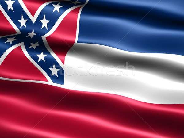 Banderą Mississippi komputera wygenerowany ilustracja jedwabisty Zdjęcia stock © bestmoose