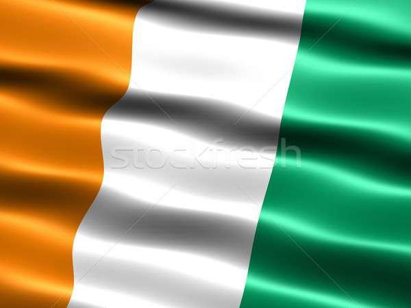 Bandeira liberdade vento africano étnico política Foto stock © bestmoose