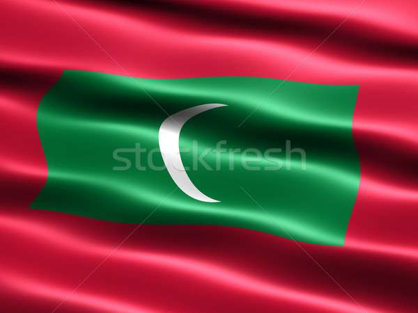 Flag of the Maldives Stock photo © bestmoose