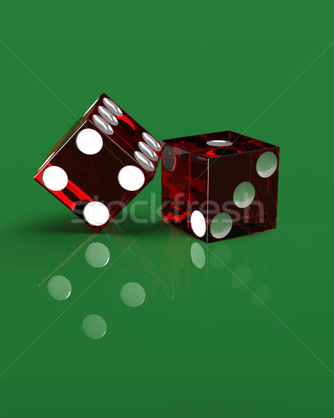 Right handed casino dice on green Stock photo © bestmoose