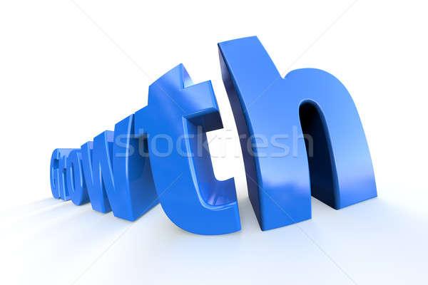 Wzrostu niebieski biały słowo świadczonych ekstremalnych Zdjęcia stock © bestmoose