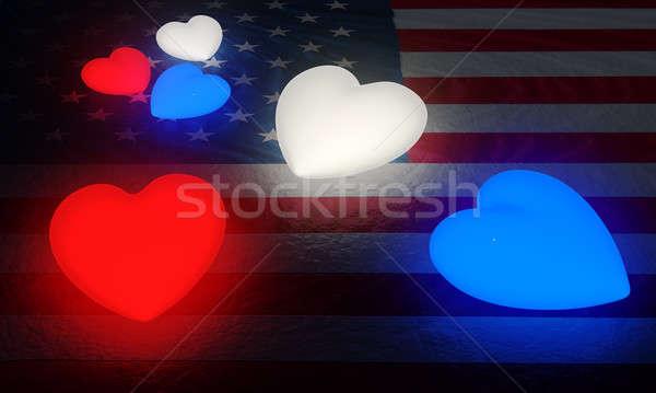 Mały zestaw czerwony biały Zdjęcia stock © bestmoose