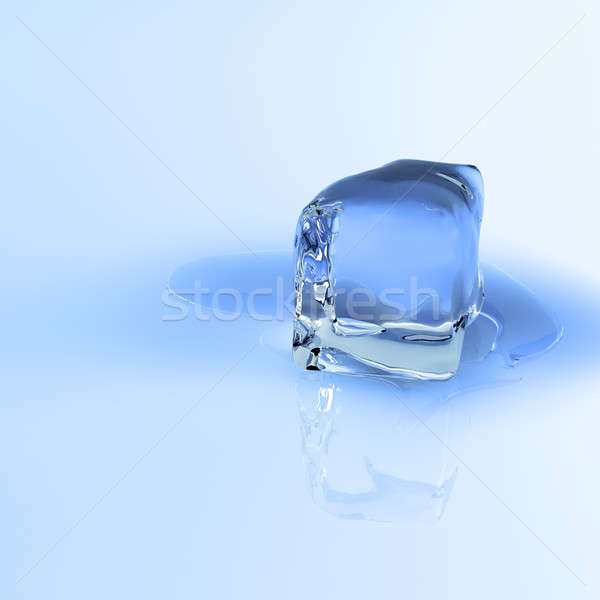 Melting ice cube Stock photo © bestmoose