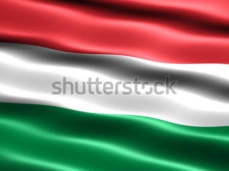Zászló Magyarország számítógép generált illusztráció selymes Stock fotó © bestmoose