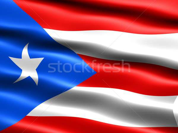 Bandeira Porto Rico computador gerado ilustração sedoso Foto stock © bestmoose
