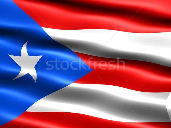 Flag of Puerto Rico Stock photo © bestmoose