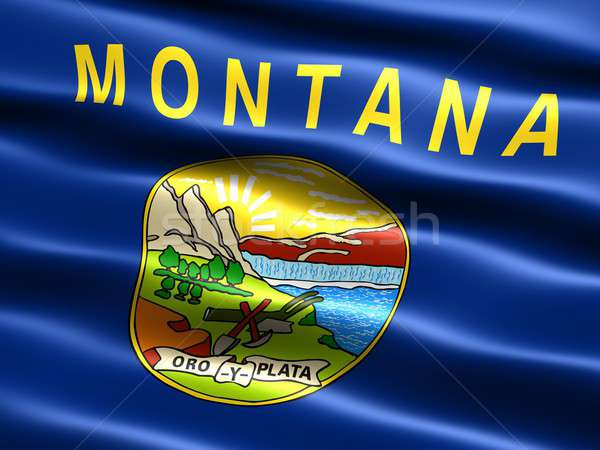 Flag of the state of Montana  Stock photo © bestmoose