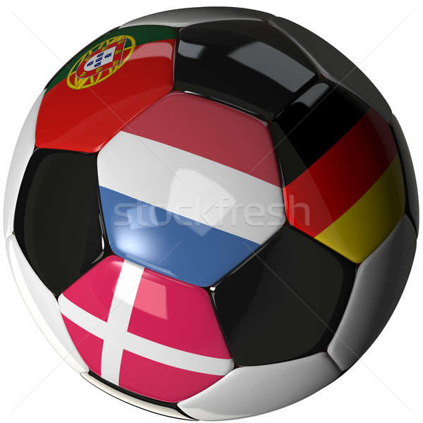 Isolated soccer ball with flags of group B, 2012 Stock photo © bestmoose