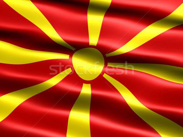 Bandeira república Macedónia computador gerado ilustração Foto stock © bestmoose
