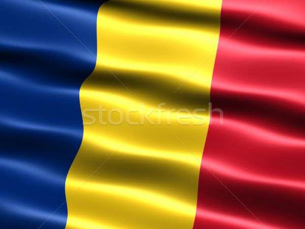 Vlag Roemenië computer gegenereerde illustratie zijdeachtig Stockfoto © bestmoose