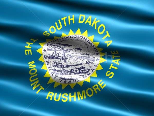 Banderą South Dakota komputera wygenerowany ilustracja jedwabisty Zdjęcia stock © bestmoose