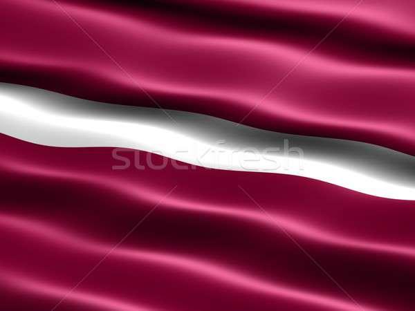 Bandeira Látvia computador gerado ilustração sedoso Foto stock © bestmoose