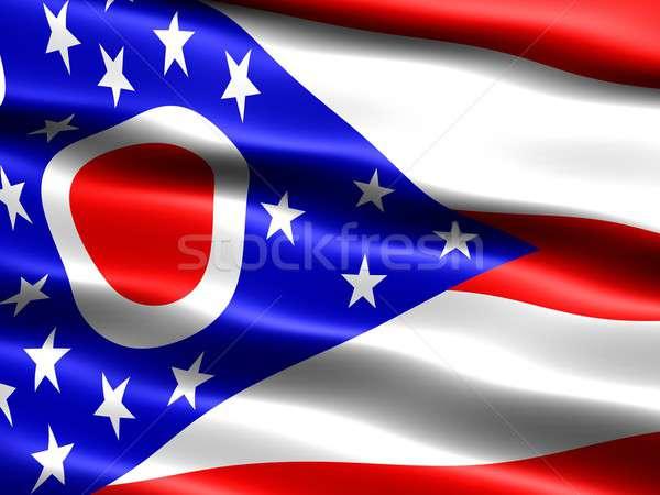 Bayrak Ohio bilgisayar oluşturulan örnek ipeksi Stok fotoğraf © bestmoose