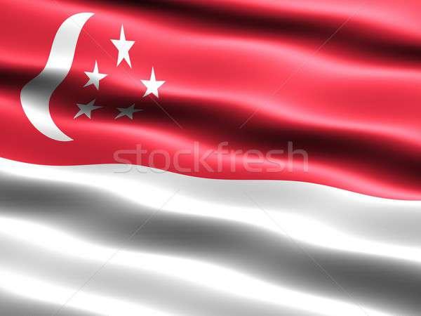 Flag of Singapore Stock photo © bestmoose