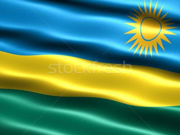 Banderą Rwanda komputera wygenerowany ilustracja jedwabisty Zdjęcia stock © bestmoose