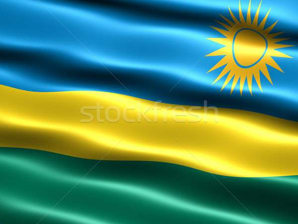 Flag of Rwanda Stock photo © bestmoose